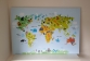 Een wereldkaart brengt het reizen terug in de slaapkamer van je kind